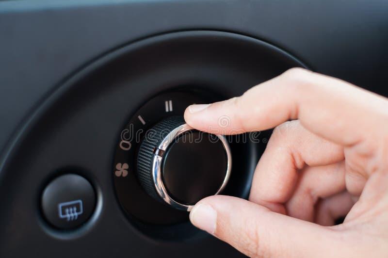 Botón de torneado del dial de la mano imagenes de archivo