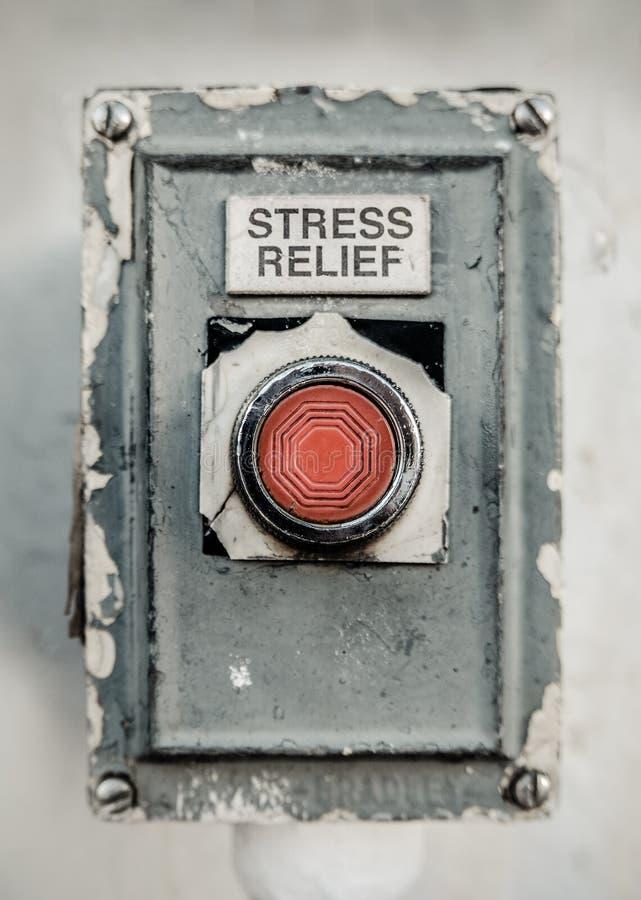Botón del alivio de tensión fotos de archivo