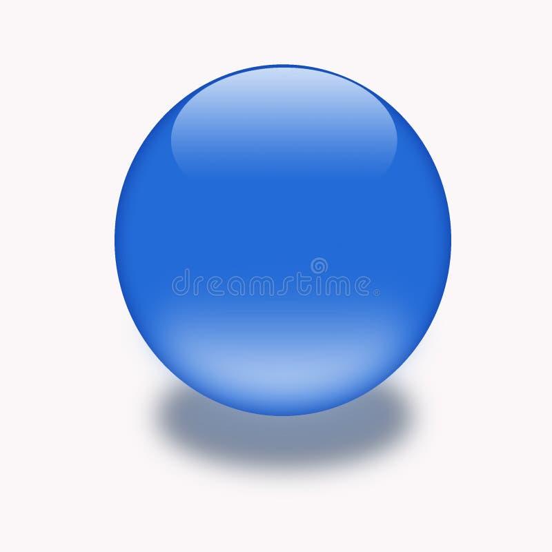 botón del aqua 3d stock de ilustración