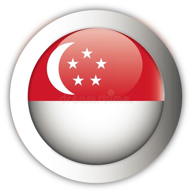 Botón del Aqua del indicador de Singapur stock de ilustración