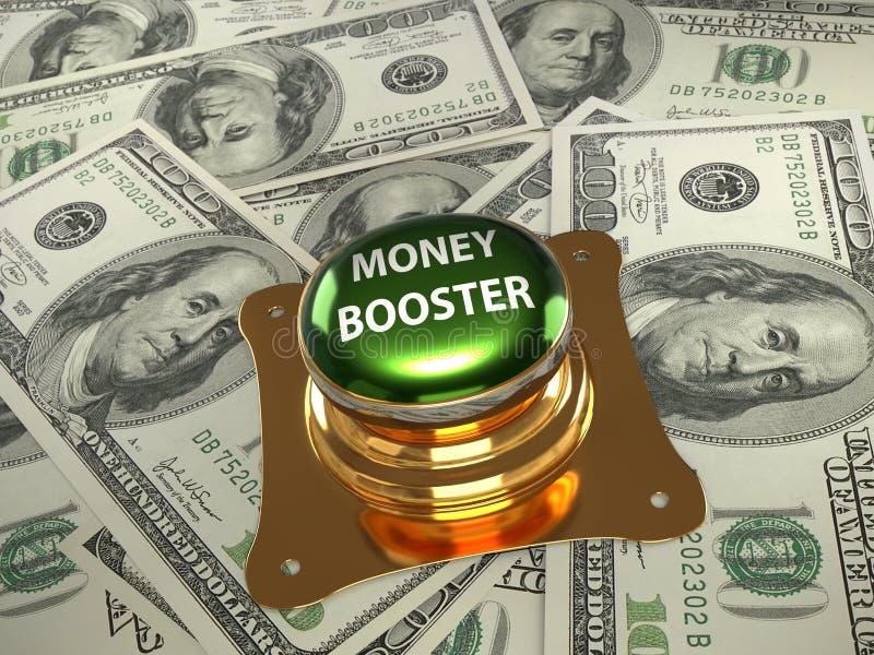 Botón del aumentador de presión del dinero ilustración del vector