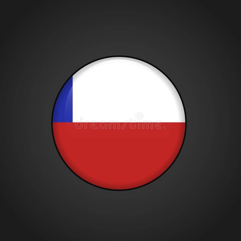 Botón del círculo de la bandera de Chile libre illustration