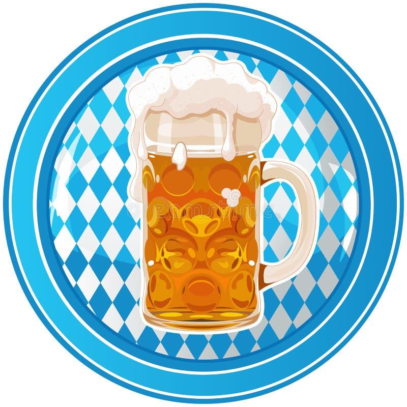 Botón del círculo de Oktoberfest stock de ilustración