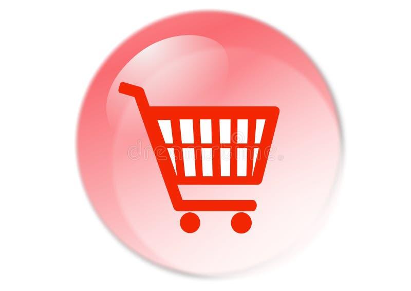 Botón del carro de compras stock de ilustración