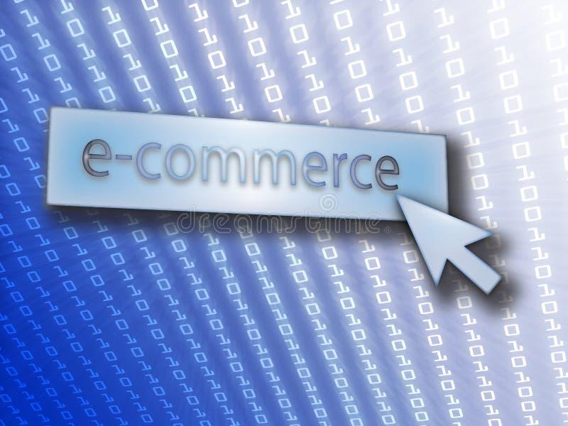 Botón del comercio electrónico libre illustration