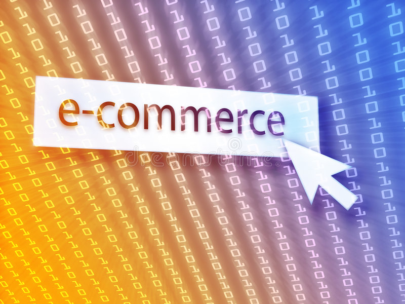Botón del comercio electrónico stock de ilustración