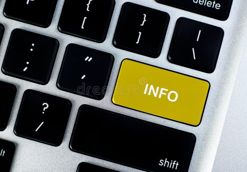 Botón del concepto de la información fotografía de archivo libre de regalías