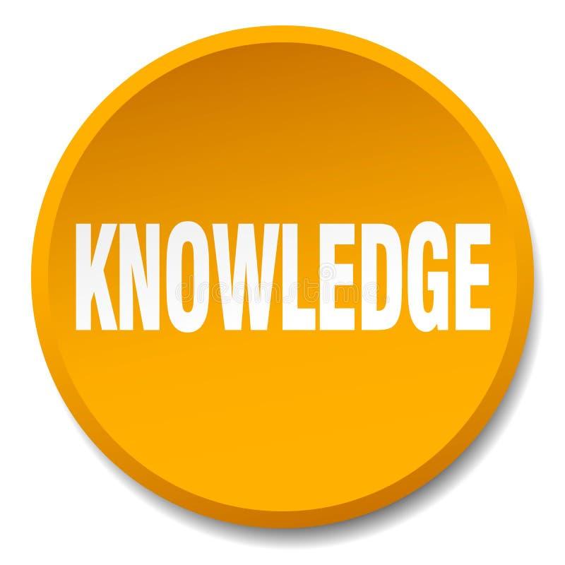 botón del conocimiento ilustración del vector