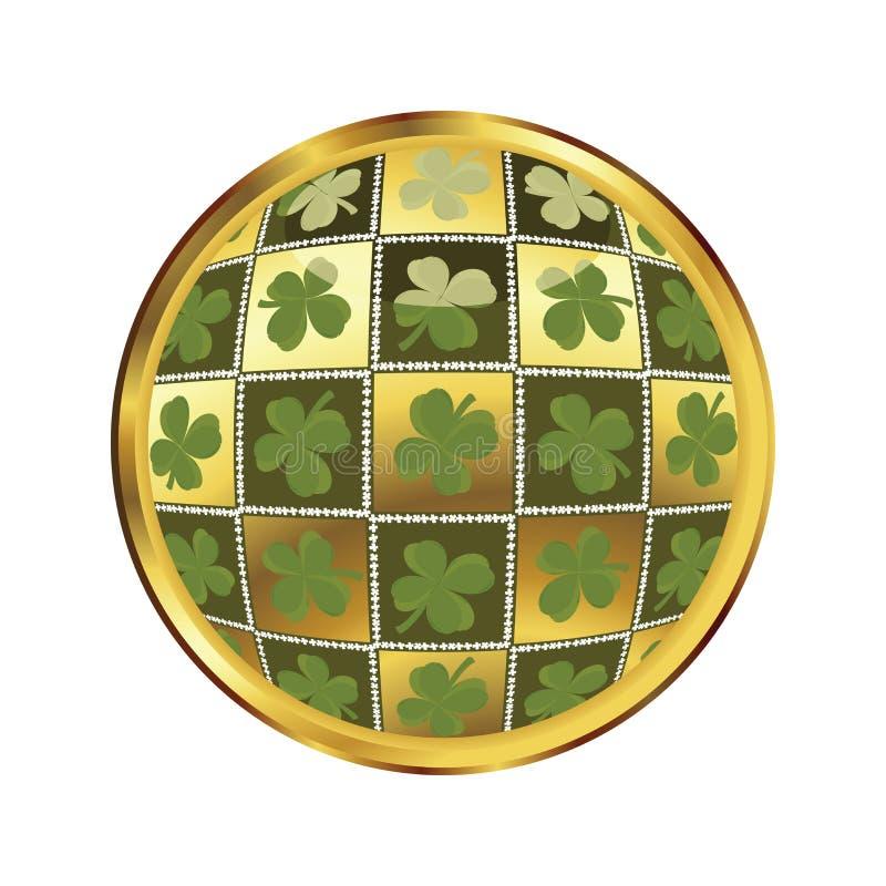 Botón del día del St. Patrick libre illustration