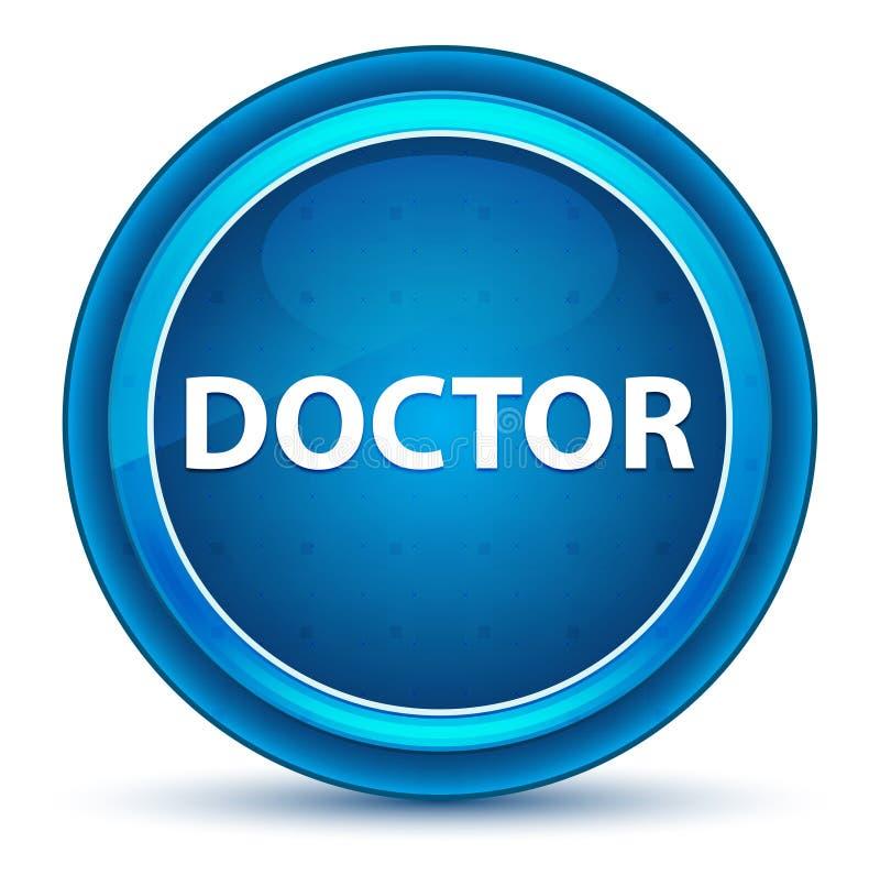 Botón del doctor Eyeball Blue Round ilustración del vector