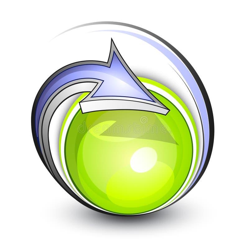 Botón del eco de Gree stock de ilustración