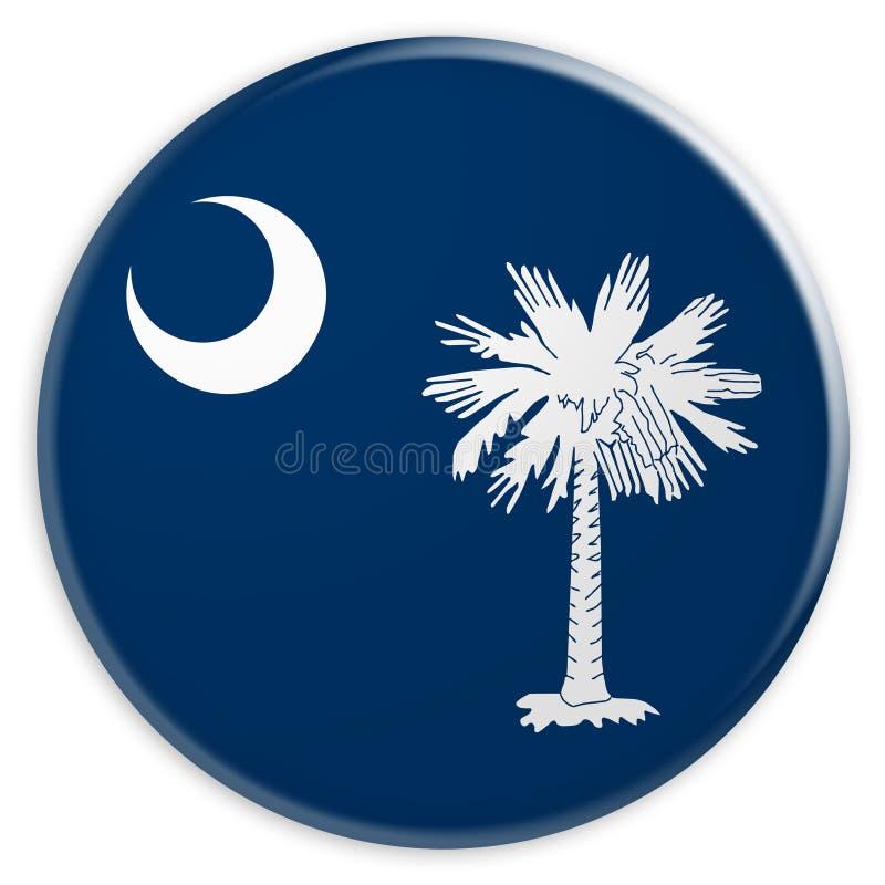 Botón del estado de los E.E.U.U.: Ejemplo del sur de Carolina Flag Badge 3d en el fondo blanco libre illustration