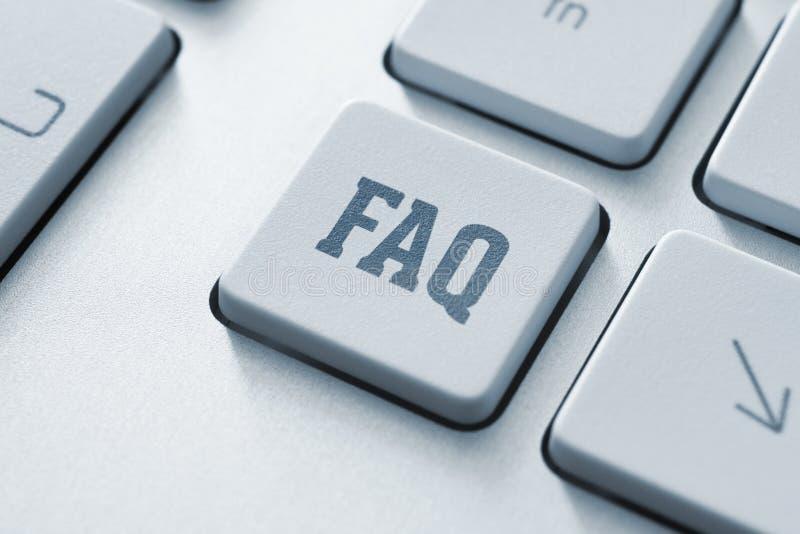 Botón del FAQ foto de archivo libre de regalías