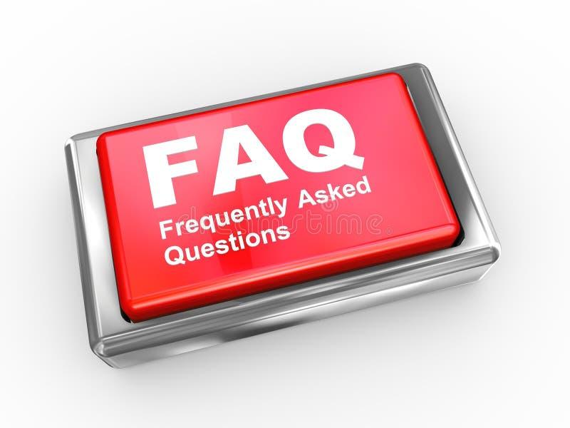 botón del FAQ 3d libre illustration
