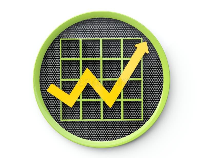 Botón del gráfico de negocio libre illustration