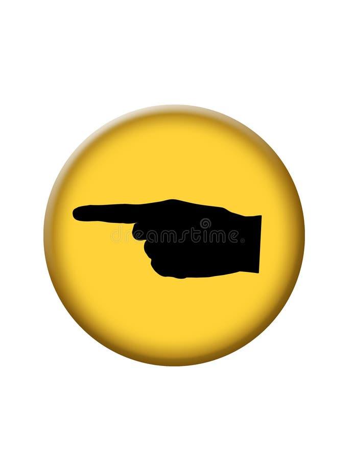 Botón del icono de la dirección ilustración del vector