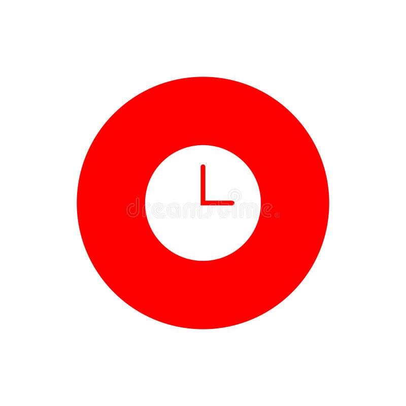 Botón del icono del reloj libre illustration