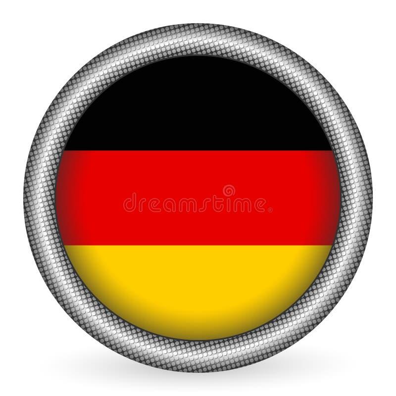 Botón del indicador de Alemania ilustración del vector