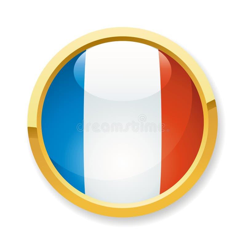 Botón del indicador de Francia ilustración del vector