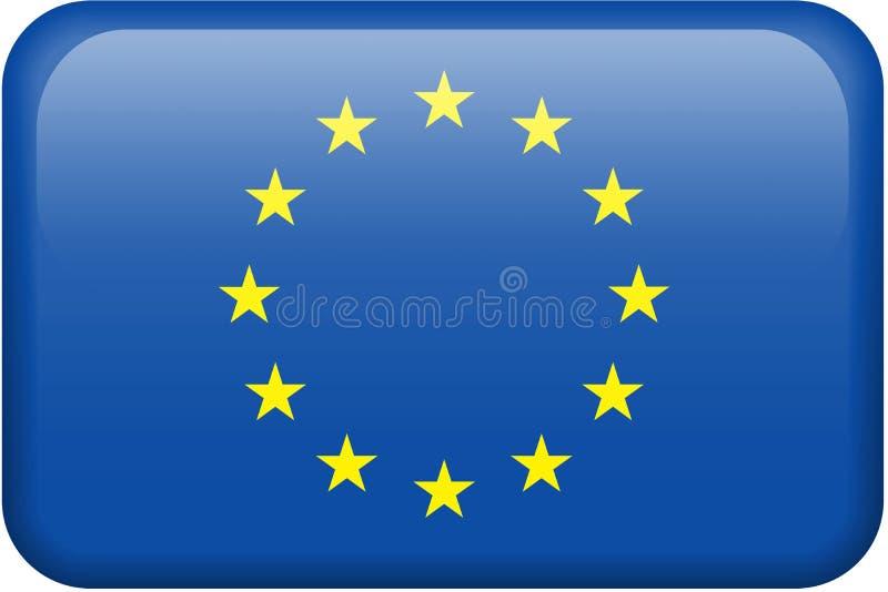 Botón del indicador de unión europea ilustración del vector