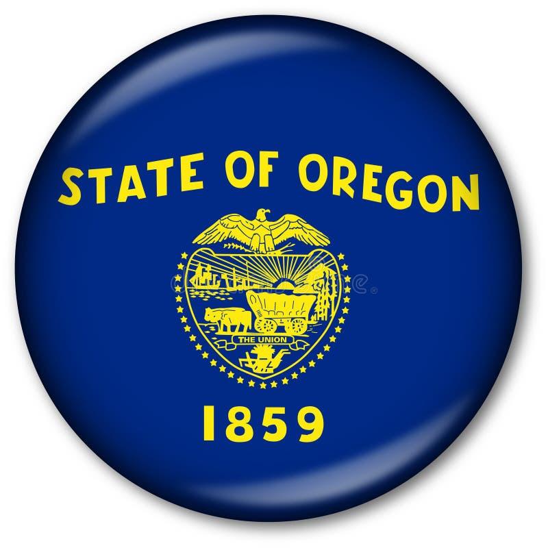 Botón del indicador del estado de Oregon stock de ilustración