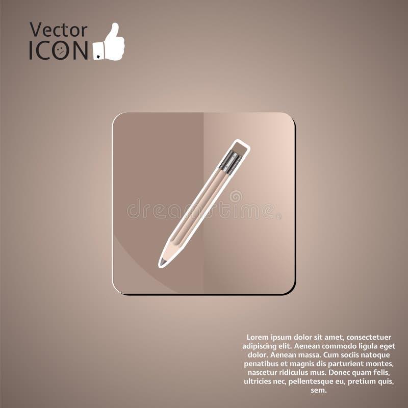 Download Botón Del Lápiz En El Fondo Ilustración del Vector - Ilustración de emoción, línea: 42436425