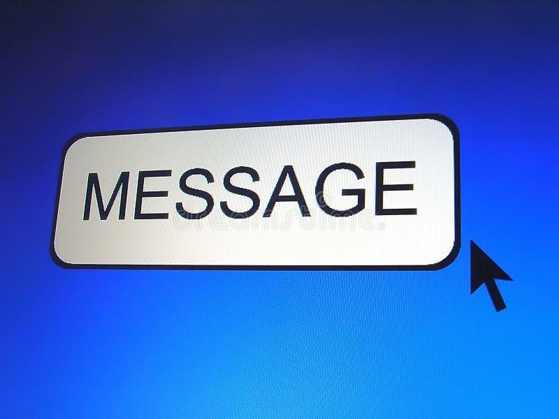 Botón del mensaje libre illustration