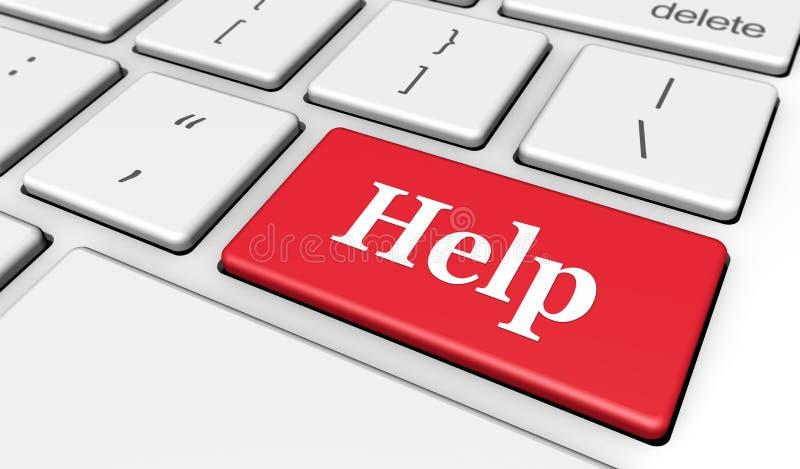 Botón del ordenador de la ayuda libre illustration
