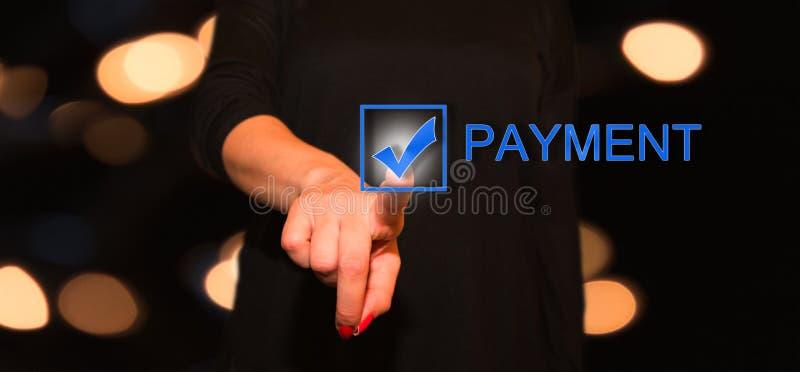 Botón del pago foto de archivo