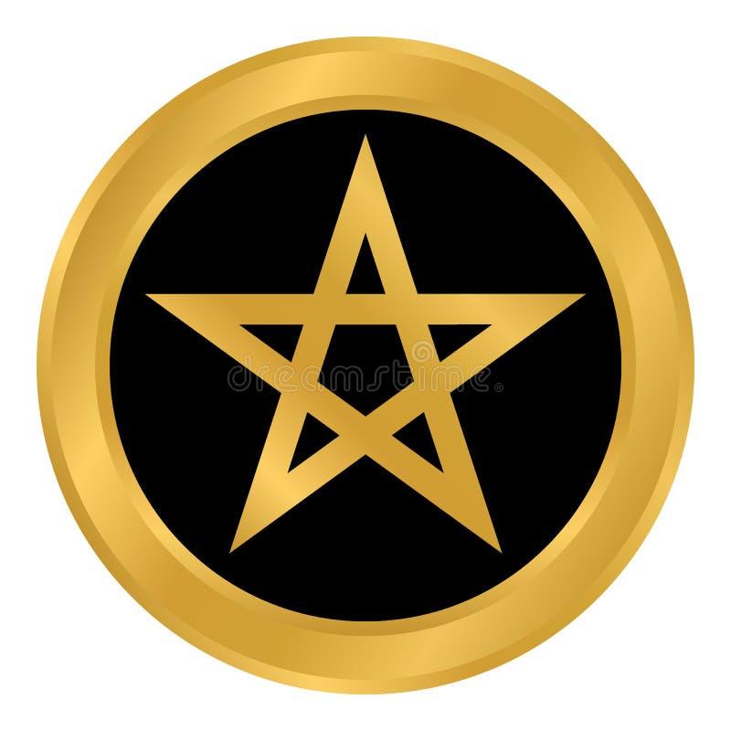 Botón del Pentagram en blanco ilustración del vector