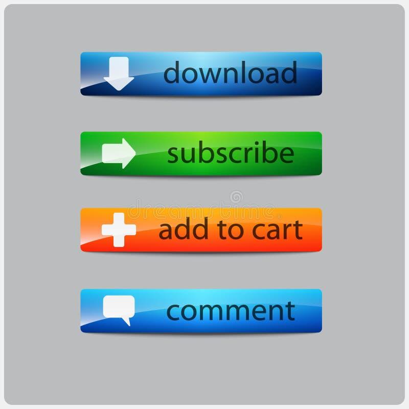 Botón del resplandor de la acción de la llamada fotografía de archivo libre de regalías