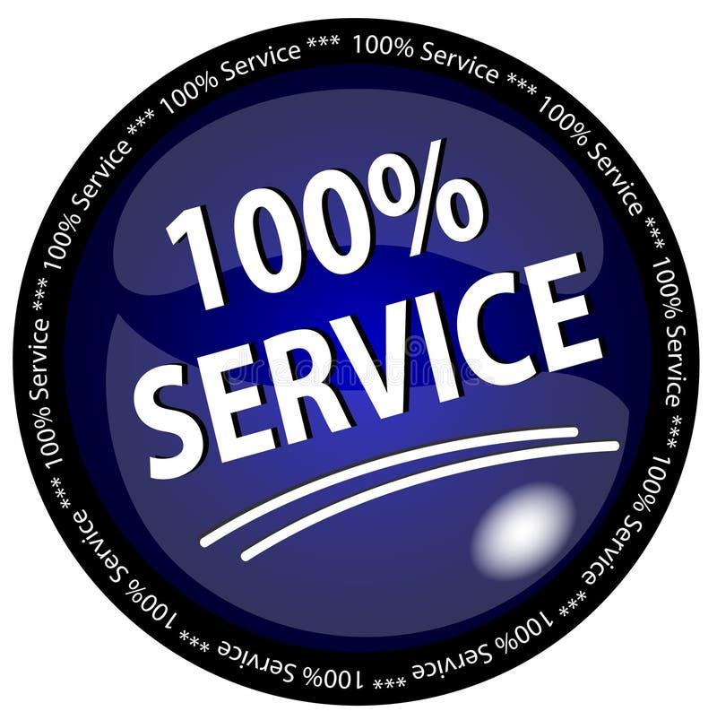 Botón del servicio del 100% stock de ilustración
