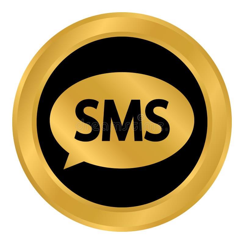 Botón del SMS en blanco ilustración del vector