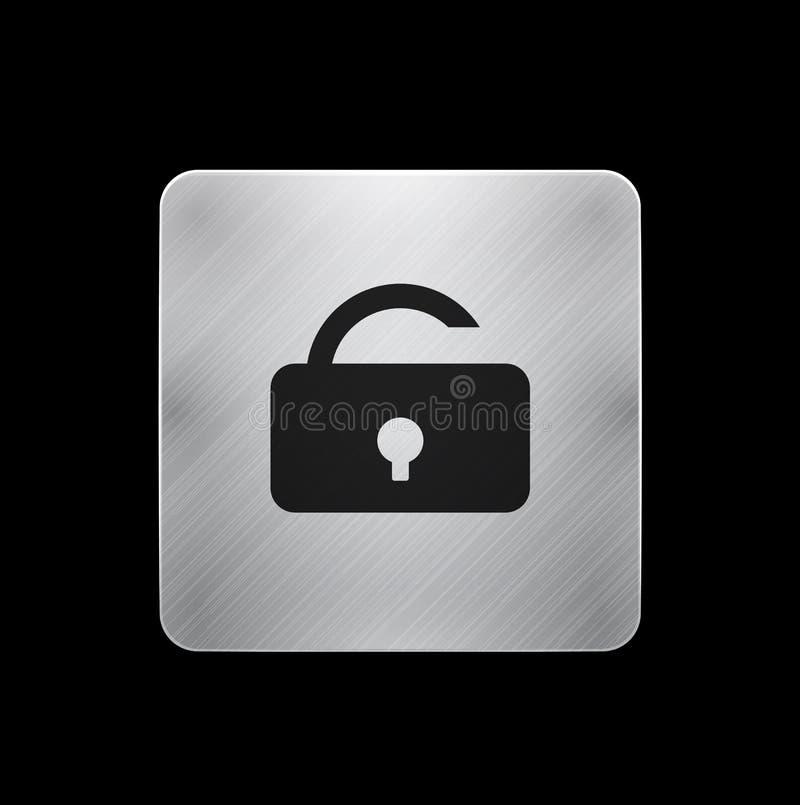 Botón del teléfono del bloqueo del vector ilustración del vector