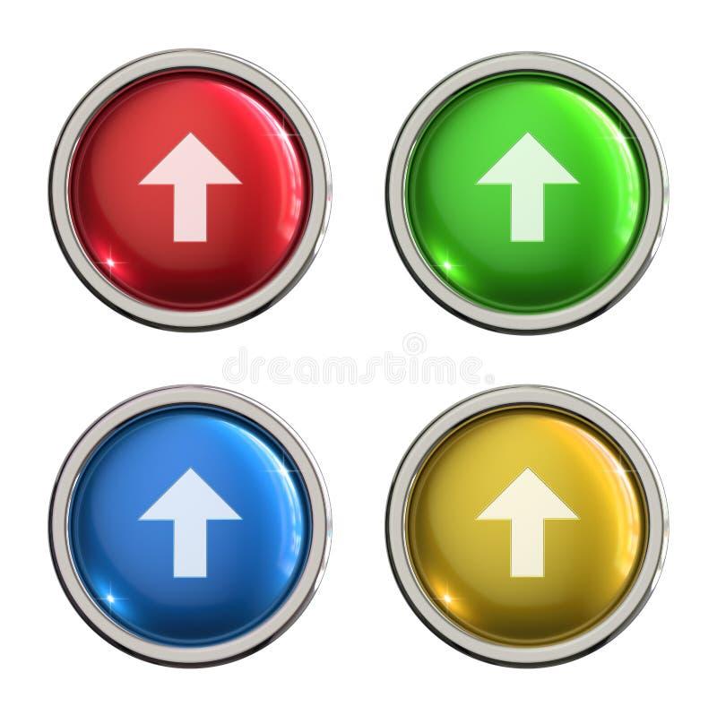 Botón del vidrio del icono de la carga por teletratamiento libre illustration