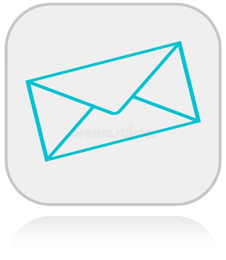 Botón del web con símbolo del correo ilustración del vector