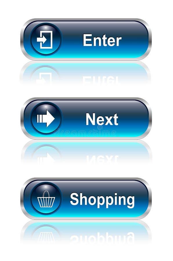 Botón del Web, conjunto del icono
