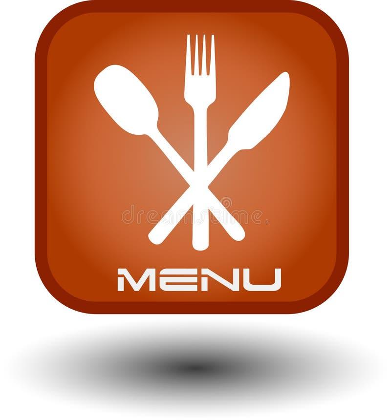 Botón del Web de alimento ilustración del vector