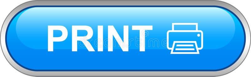 Botón del web de la impresora stock de ilustración