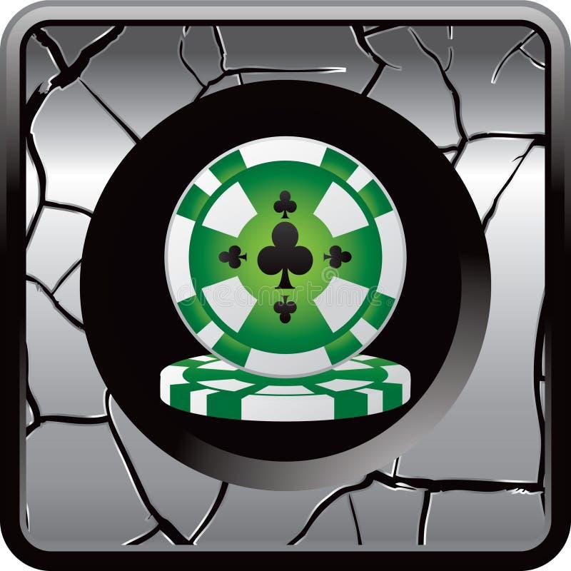 Botón del Web de la viruta del casino stock de ilustración