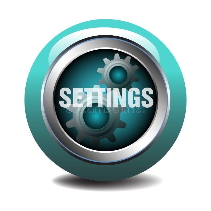 Botón del web de los ajustes stock de ilustración