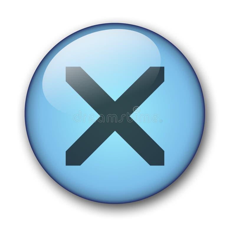 Botón del Web del Aqua stock de ilustración