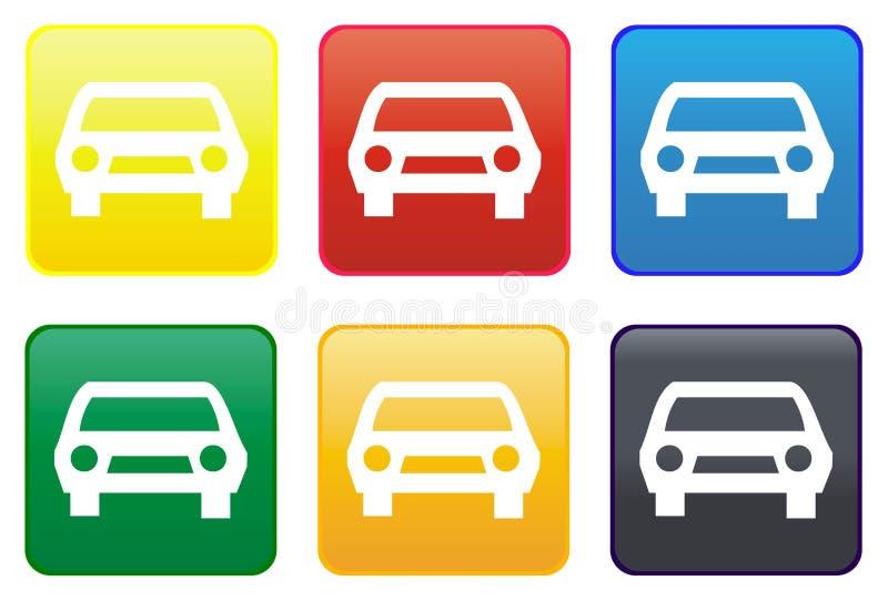 Botón del Web del coche ilustración del vector