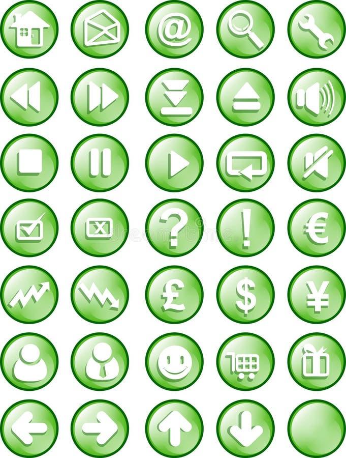 Botón del Web y del Internet stock de ilustración