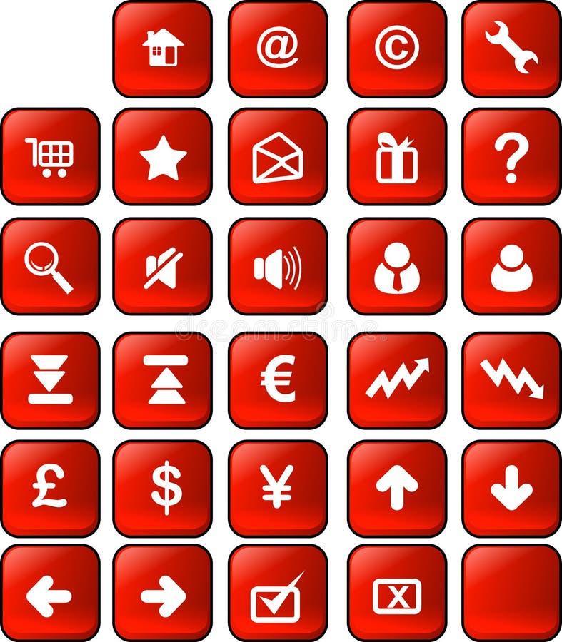 Botón del Web y del Internet libre illustration