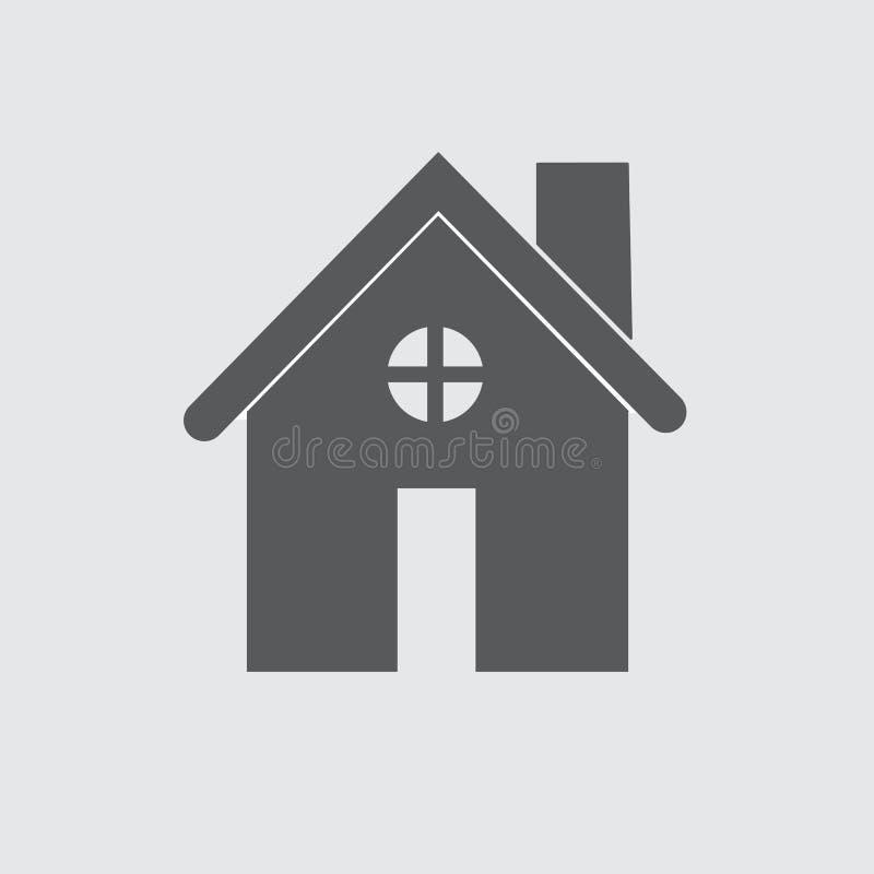 Botón del webicon de los ejemplos del vector del icono del hogar de la casa libre illustration