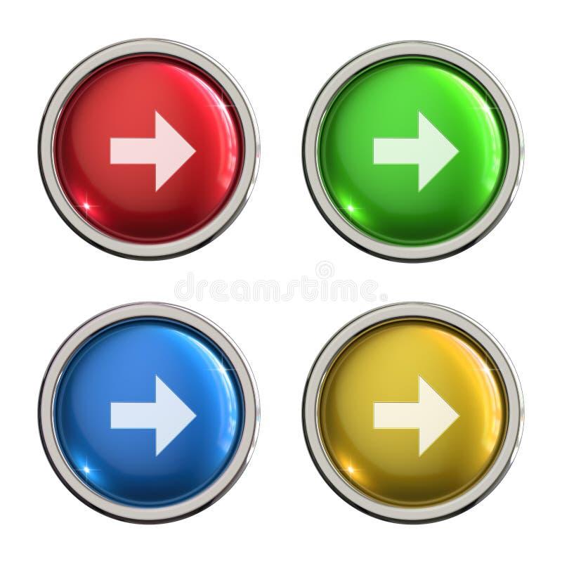 Botón delantero del vidrio del icono ilustración del vector
