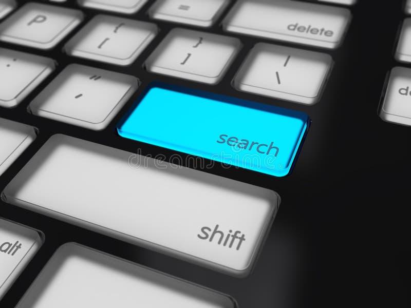 Botón destacado de la búsqueda imagenes de archivo