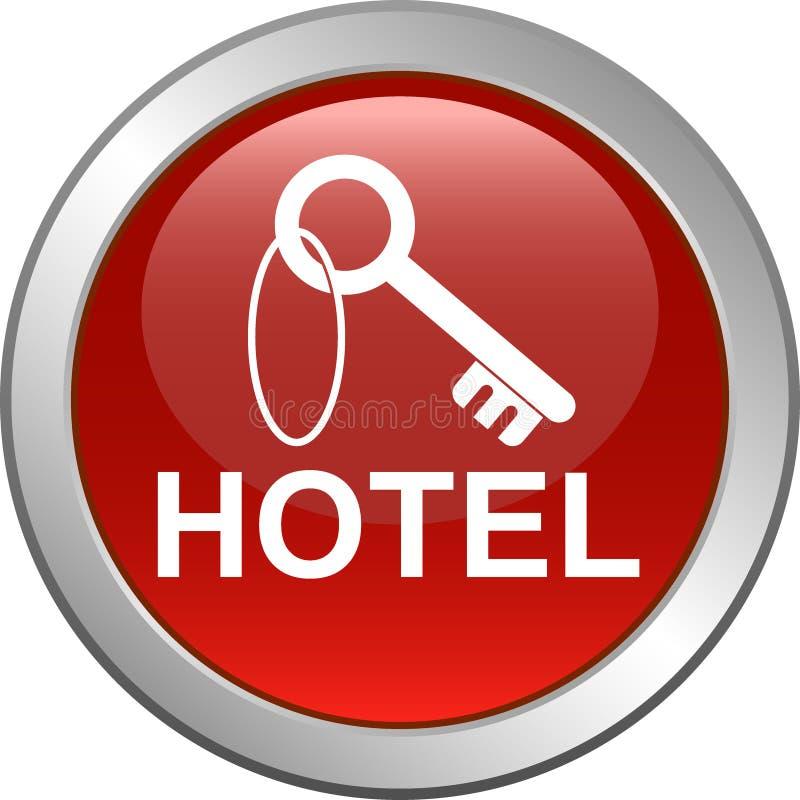 Botón dominante del web del icono del hotel ilustración del vector