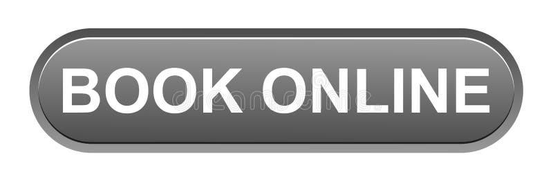 botón en línea del libro stock de ilustración
